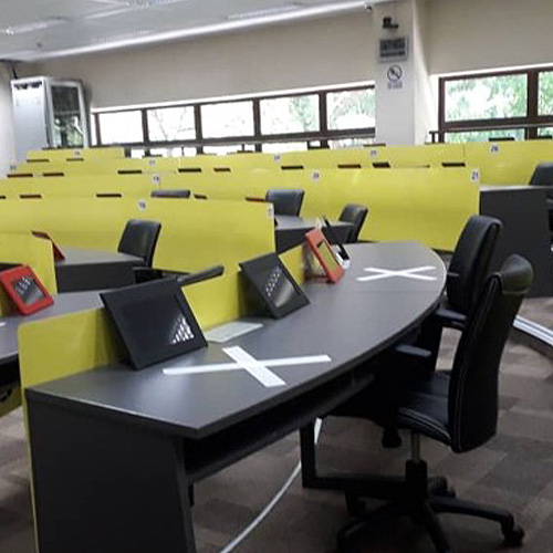 Classrooms have been arranged to adhere to safe distancing measures